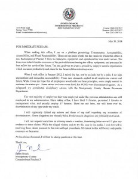 Press Release – May 30, 2014