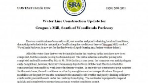 Update Letter from the San Jacinto River Authority