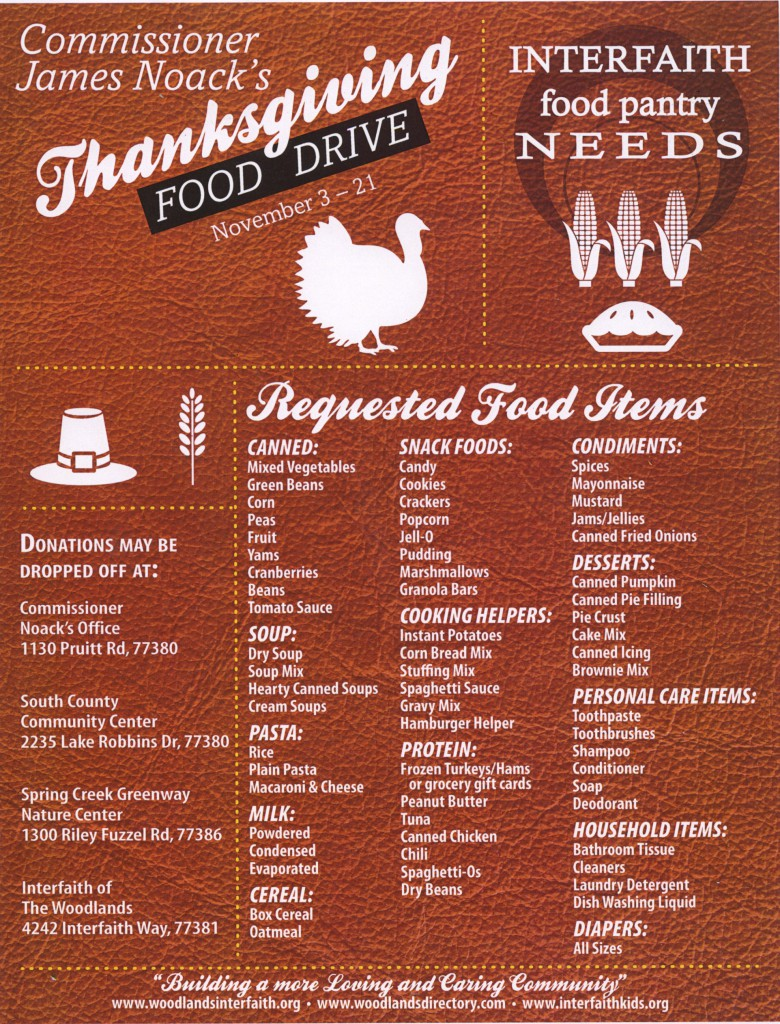 Commissioner Noack's Food Drive