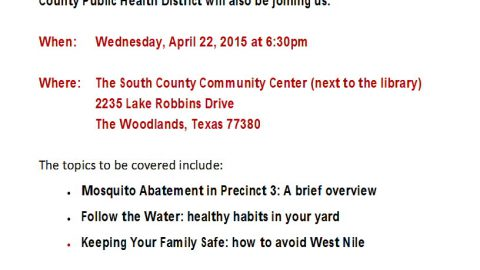 Mosquito Abatement Seminars – 4/22/15