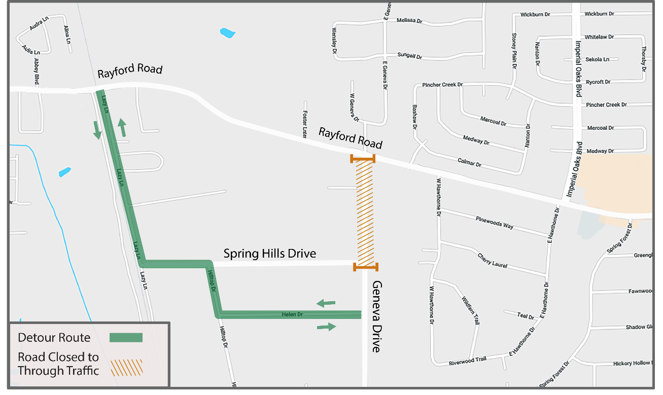Geneva Drive closure | Precinct 3