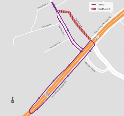 Rayford Road temporary closure set for tonight