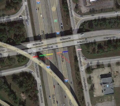 I-45 main lanes, frontage road alternating closures this week